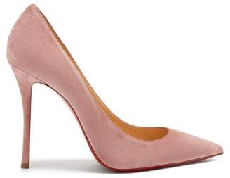 Christian Louboutin Decoltish 100 Suede Pumps - Womens - Pink