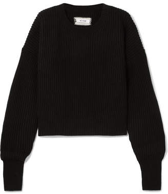 RE/DONE Ribbed Wool And Cashmere-blend Sweater - Black