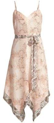 L'Agence Azalea Snakeskin-Print Dress