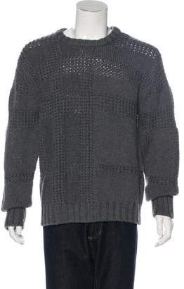 Burberry Wool Nova Check Knit Sweater