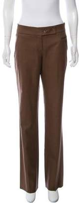 Brunello Cucinelli Mid-Rise Straight Leg Pants