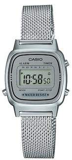 Casio Ladies Standard Digi Silver Sunglasses