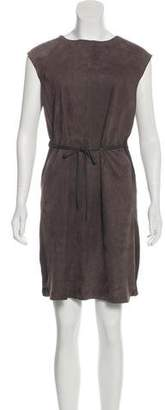 Fabiana Filippi Suede Silk-Trimmed Dress