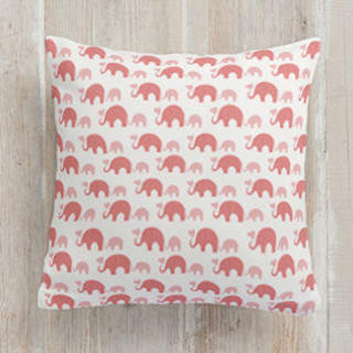 Elephant Heart Square Pillow