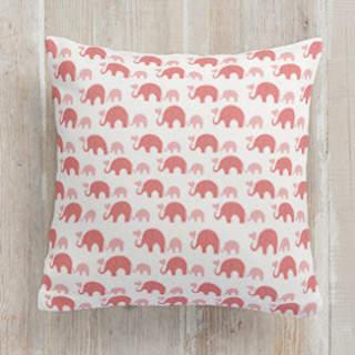 Elephant Heart Square Pillow