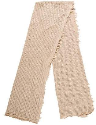 Donni Charm Open Knit Fringe Scarf