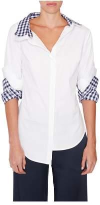 Monse Double-Collar Gingham Shirt