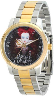 Disney Womens Alice In Wonderland Two Tone Red Queen Bracelet Watch