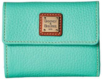Dooney & Bourke Pebble Leather New SLGS Small Flap Credit Card Wallet Wallet Handbags