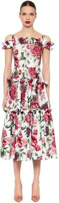 Dolce & Gabbana Floral Poplin Midi Dress