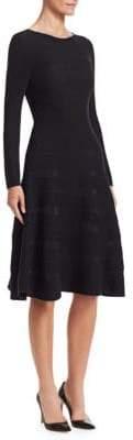 Emporio Armani Ribbed Fit-&-Flare Dress