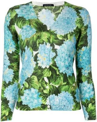 Samantha Sung Charlotte hydrangea print cardigan