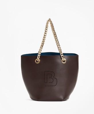 Brooks Brothers Logo-Embellished Leather Mini Tote Bag