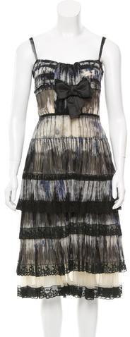 pradaPrada Layered Silk Dress