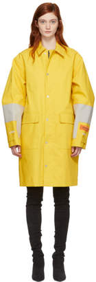 Heron Preston Yellow Bonded HP Rain Coat