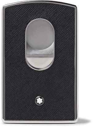 Montblanc Sartorial Cross-Grain Leather and Silver-Tone Card Case - Men - Black