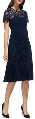 Whistles Bianca Pleated Lace Dress