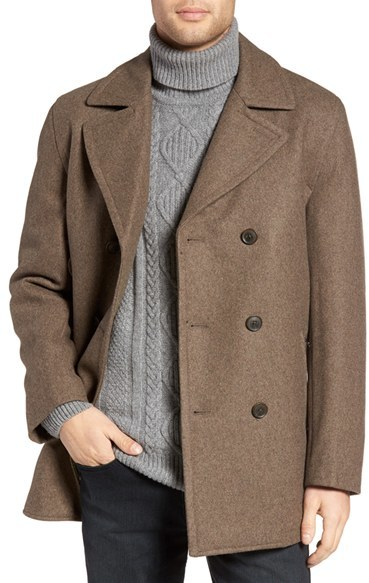 Men's Michael Kors Wool Blend Double Breasted Peacoat