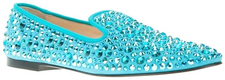 Giuseppe Zanotti Design embellished crystal stud loafer