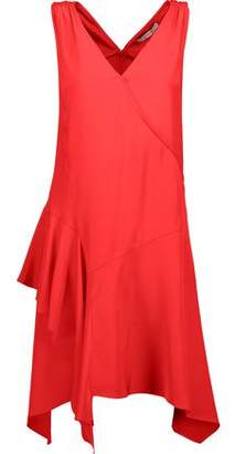 Derek Lam 10 Crosby Asymmetric Ruffled Silk Dress