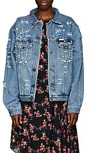 Couture Forte Dei Marmi Women's Tokyo Embellished Denim Jacket - Md. Blue