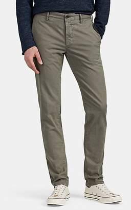 Incotex Men's Flat-Front Cotton Slim Chinos - Gray