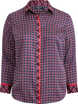 Ralph Lauren Print Twill Button-Down Shirt