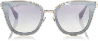 Jimmy Choo LORY Light Gold Cat-Eye Sunglasses with Mirror Lenses