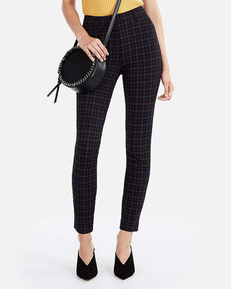 Express High Waisted Windowpane Knit Skinny Pant