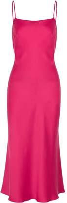 Bec & Bridge Classic Fuchsia Silk Midi Dress