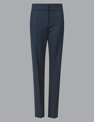 Marks and Spencer Wool Blend Trousers with Silk