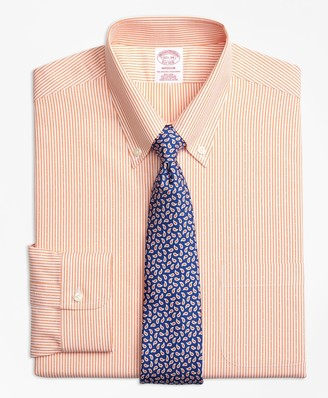 Brooks Brothers Madison Classic-Fit Dress Shirt, Non-Iron Dobby Candy Stripe