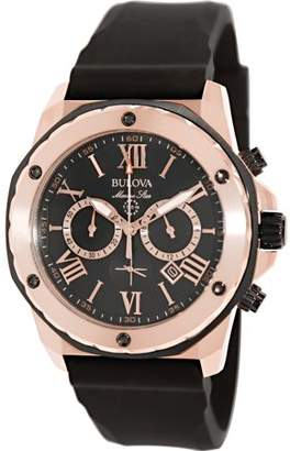 Bulova Men's Marine Star 98B104 Black Rubber Quartz Watch