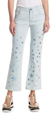 Stella McCartney Star-Print Cropped Jeans