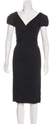 Rebecca Taylor Wool Linen-Blend Dress