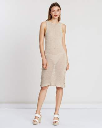 MinkPink Far & Away Midi Dress