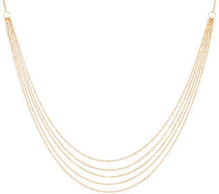 "Silver Style Sterling Silver Multi-Strand Singapore 18""Necklace"