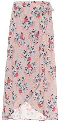 Velvet Isadora floral printed skirt
