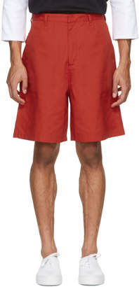 Acne Studios Red Port Shorts