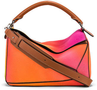 Loewe Puzzle Spray Bag in Orange Sunset | FWRD