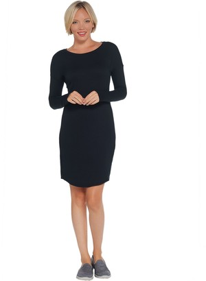 Skechers Long-Sleeved French Terry Destress Dress