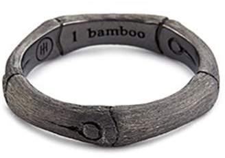 John Hardy Brushed rhodium silver bamboo ring
