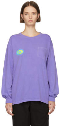 Noah NYC Purple Pretty Logo T-Shirt