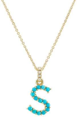 "Jennifer Meyer Women's ""S"" Pendant Necklace - Turquoise"