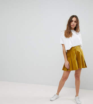 Asos Design DESIGN pleated culotte shorts