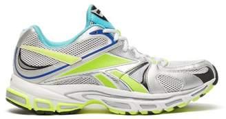 Vetements X Reebok Spike Runner 200 Mesh Trainers - Mens - Silver