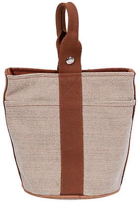 One Kings Lane Vintage Hermès Two-Tone Toile Bucket Bag