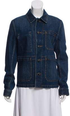 Burberry Collared Denim Jacket
