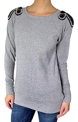 Romeo & Juliet Couture - Women's Grey Raglan Sweatshirt