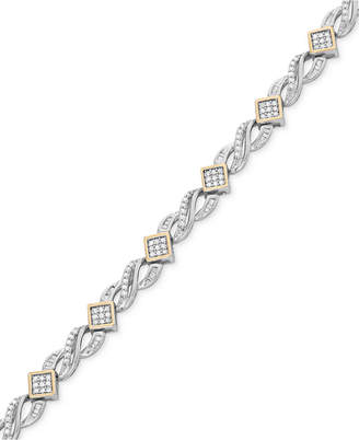 Wrapped In Love Diamond Infinity Bracelet (1 ct. t.w.) in 14k Gold and Sterling Silver, Created for Macy's
